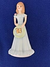 Enesco Growing Up Birthday Girls Age 14 Porcelain With Original Box 1981 Vintage
