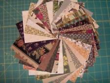 "New listing 60 brown cotton quilt squares 4 1/2"" x 4 1/2"" diecut Sq1938"