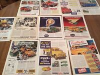 Vintage 40s Scrap Book Trucks Truck Ads Studebaker White International Gmc