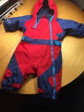 Columbia Infant Boys Ski Bunting Snow Suit Red And Blue fleece lined Sz: 6 Month