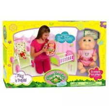 Cabbage Patch Kids Play n Travel: Tiny Newborn with Folding Accessories Carrier,