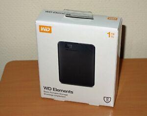 Western Digital WD Elements 1TB externe Festplatte USB 3.0 Black HDD Hard Drive