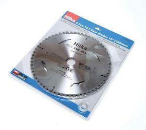 """Hilka 51250002 2 pce TCT Circular Saw Blades 40T & 60T 10"""" 250mm x 30mm bore"""