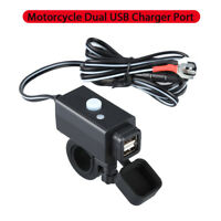 Waterproof Car MotorcycleDual Port USB Adapter Charger Fr cellphone Power Supply