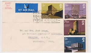 (K233-19) 1971 GB FDC British architecture buildings used (S)