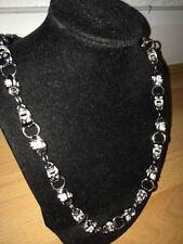 Cadenas, collares y colgantes de oro blanco para hombre