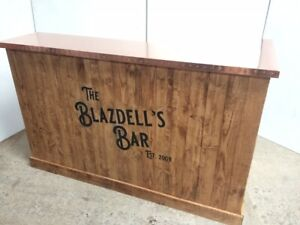 Copper Top Home Bar for Man Cave