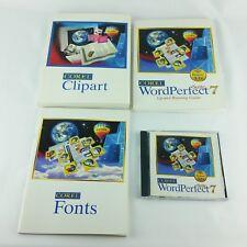 Corel WordPerfect 7 Suite Windows 3.1x  Books and CD Vintage Quattro Pro Paradox