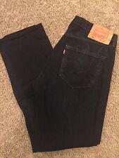 Men's VGUC LEVIS 501-0660 36X34 Black Classic Fit Button Fly Regular Cut Jeans