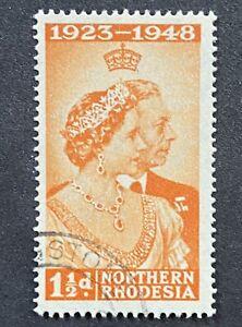 NORTHERN RHODESIA 25 Anniversary Of King George VI & Queen Elizabeth 1948 USED