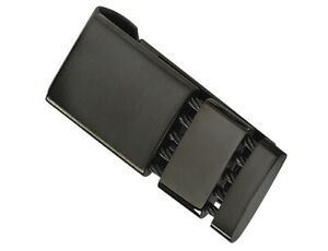 Mens Stainless Steel Black-Plated Money Clip