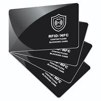 4x RFID Blocker Karte NFC Schutz für EC & Kreditkarten Schutzkarte Blocking Card