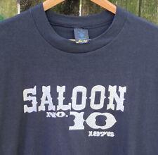 Vtg 80s 90s Saloon N0, 10 1876 Deadwood Dakota Territory Single Stitch Shirt (Xl