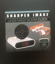 Sharper Image Laser Target Alarm Clock White (Brand New) Excellent Gift