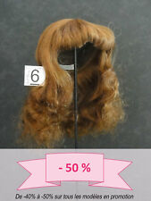 50% Promo Wig Doll T6 (27.5cm) Hair Long Brown-Red