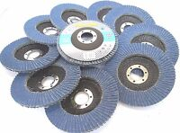 115mm 36 Grit Zirconium Flap Disc  Pack Of 10 Grinding Rust Removal TZ AB153