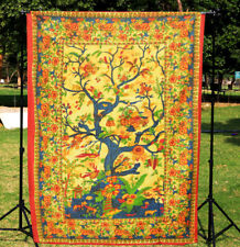 Twin Tree Of Life Mandala Tapestry Ethnic Wall Hanging Home Decor Bedspread