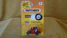 1/64 DIE CAST 1990 MATCHBOX  SPRINT RACER  RED # 2  CARD # 34