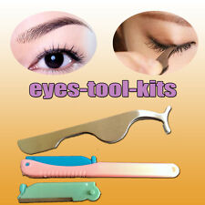 Beauty Tool Fake Eyelashes Extension Applicator Clip Tweezer & Eyebrows Shavers