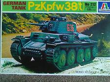 ITALERI 1/35 GERMAN TANK PzKpfw 38 (t) Figure inclus. Kit 212
