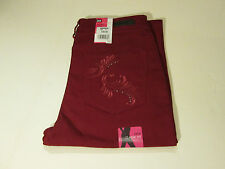LEE STRAIGHT STRETCH CLASSIC FIT JEANS PETITE SZ 12 P SHORT -RED- NWT