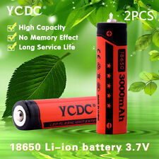 2x high performance 18650 3000mah 3.7v li-ion rechargeable battery+gift box 943