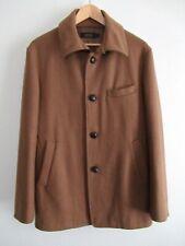 EUC Journal Standard Japan Womens Wool Blend Coat Sheep Skin Chin Strap Brown XL