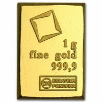 1 Gram Fine Gold Bar 9999 Pure Fine Bullion Swiss Valcambi From Sheet