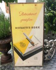 RARITÄT, Muratti ' s Kork Zigaretten Reklametafel, Imaglas unzerbrechich, 1950er