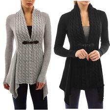 inverno donna maglioncino con collo a V CASUAL Cardigan lavorato a maglia
