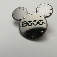 Disney Applause Mickey Unlimited Silver 2000 Mickey Head Pin