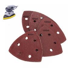 10x 90mm Sanding Sheets Triangle Mouse Detail Sander Pads 40 60 80 100 120Grit