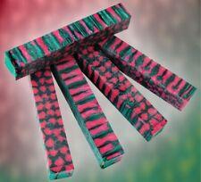 """Pink Lotus Genesis Acrylester 1 pc Pen Blank 3/4"""" x 5"""" Blanks"""