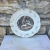 Assiette décorative avec support mural - Le lion de Belfort