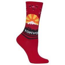 Hot Sox Women's Tokyo Sock Red One Size - HO100105