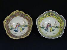 PAIR ANTIQUE REPUBLIC PERIOD HONGXIAN CHINESE FAMILLE ROSE BOWL 帝中國古董瓷器清