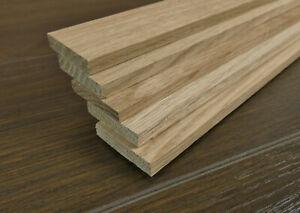 5 Rechteckleisten Eiche 7 x 35 x 1140 mm Holzleisten Massivholzleisten 3,14 €/m