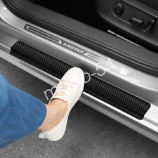 Accessories Carbon Fiber Car Scuff Plate Door Sill 5D Sticker Protector 2020 4X (Fits: Hyundai Elantra)