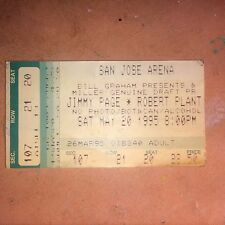jimmy page robert plant san jose arena mmay 20 1995 ticket stub