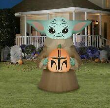 Star Wars The Mandalorian BABY YODA Inflatable Light UP Halloween Yard Airblown