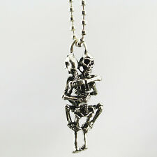 Tibet argent acier inoxydable noir crâne collier chaîne pendentif Cadeau d'amour