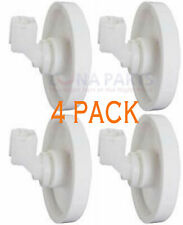 New listing 4 Pack New Ea420037 Dishwasher Lower Rack Wheel & Clip Fits Frigidaire Kenmore