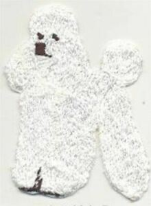 All White Standing Full Body Poodle Dog Breed Embroidered Patch