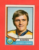 1974-75 O-Pee-Chee OPC  #  24 Jacques Lemaire  nrmnt-mt