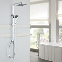 Duschsystem Duschset Regendusche Duscharmatur Handbrause ohne Wasserhahn Chrom