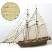 1:100 Scale DIY Ship Assembly Model Kits Wooden Sailing Boat Decoration Gift Toy