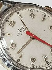 1950s Avia 15J  Gold Capped, wristwatch, Honeycomb Dial, Sweep hand
