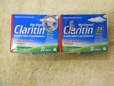 Claritin 10 mg Loratadine Non Drowsy (2 x 20ct) 40 Tablets Total - Exp: 04/2019
