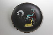 Wandteller Zierteller Keramik Ruscha 50er 60er Jahre Fifties Rehe Bambi
