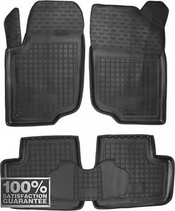 Rubber Carmats for Peugeot 207 2006-2012 All Weather Floor Mats Fully Tailored